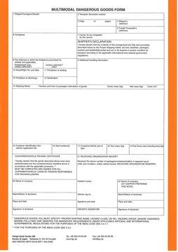 Bild på Multimodal Dangerous Goods Form / Block