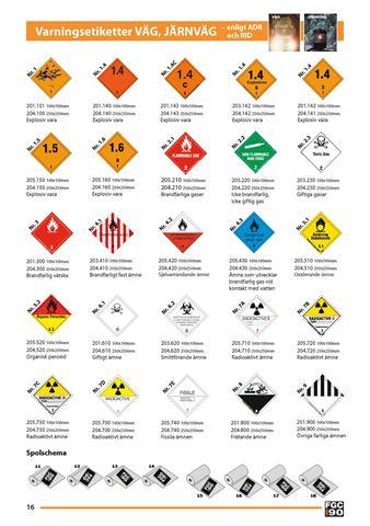 Bild på Varningsetiketter Väg & Järnväg