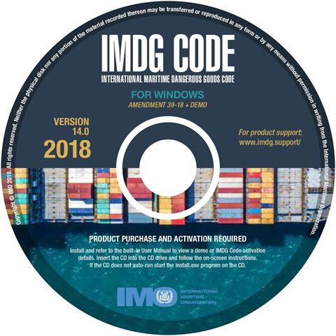 Bild på IMDG code CD